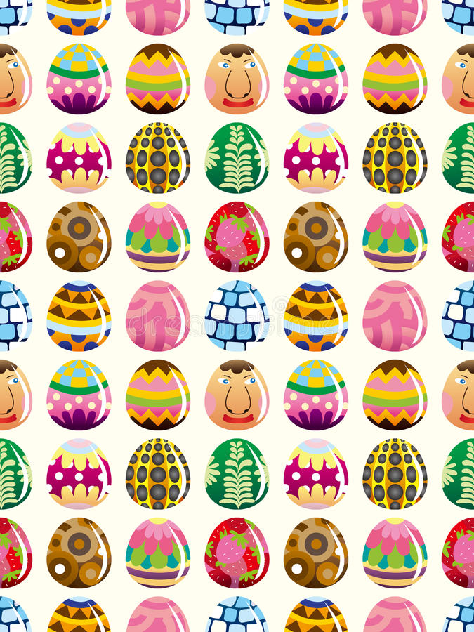 Seamless Easter egg pattern