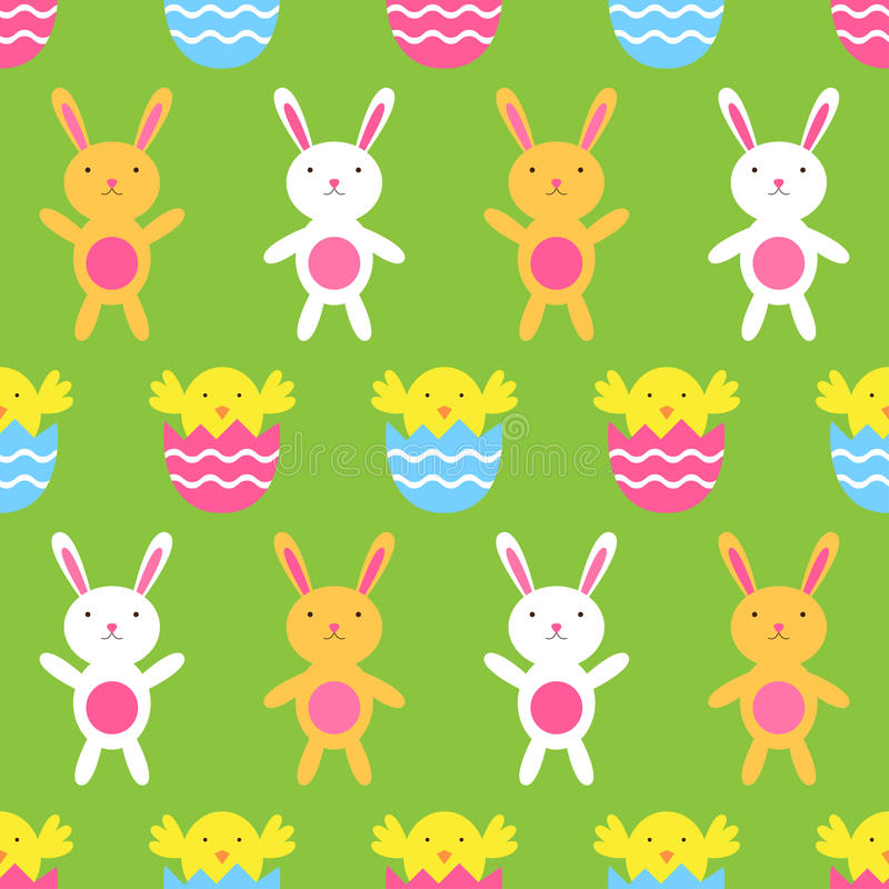 Seamless Easter pattern vector illustration