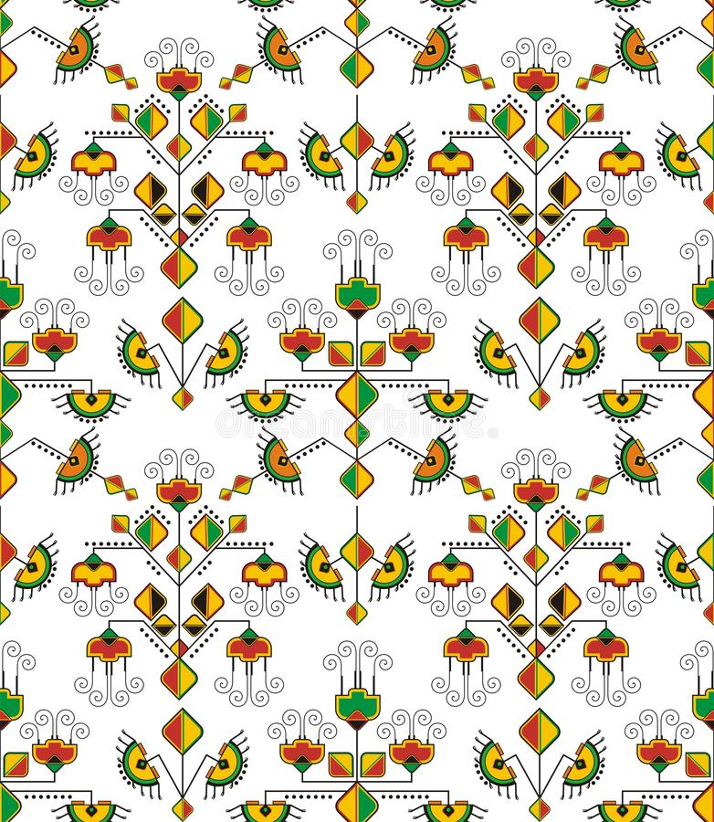 Download Seamless Eastern Ornament Wallpaper Stock Vector - Image: 24942757