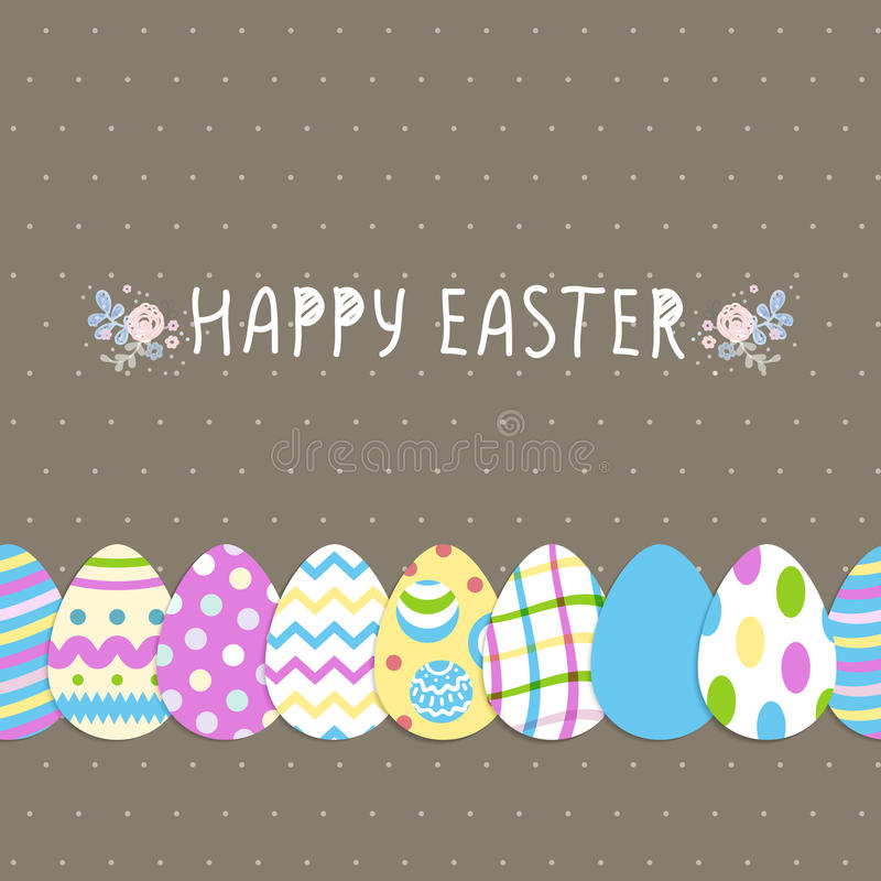 Download Seamless Eggs Bright Pattern Happy Easter Cute Poster Vector Illustration Wallpaper