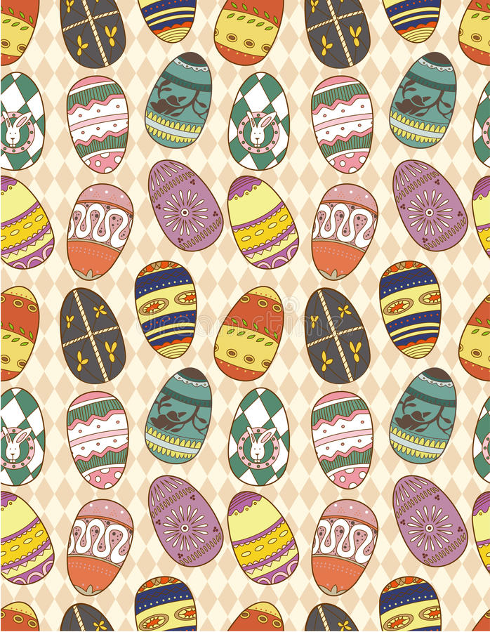 Download Seamless Eggs pattern stock vector. Illustration of formal - 17261206