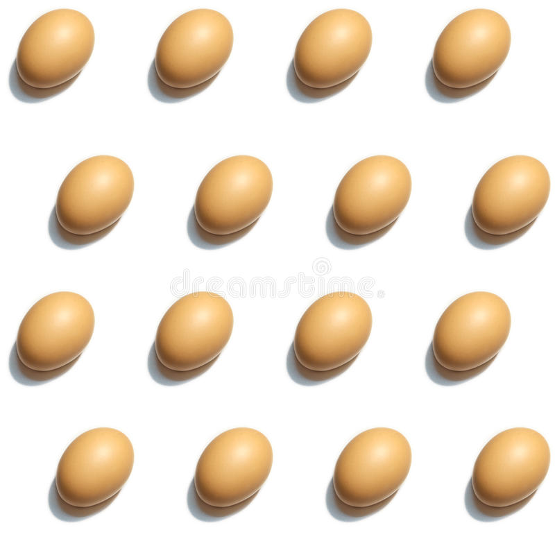 Seamless eggs pattern white isolate. Seamless eggs pattern isolate on white background image, studio lighting stock photos