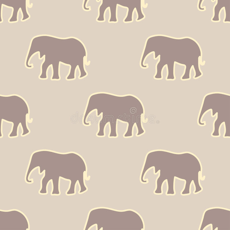seamless elefantmodell stock illustrationer