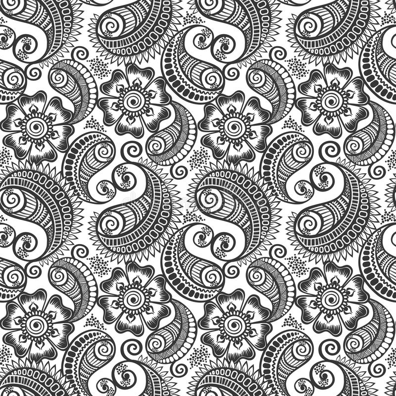 Seamless elegant paisley pattern royalty free stock photography
