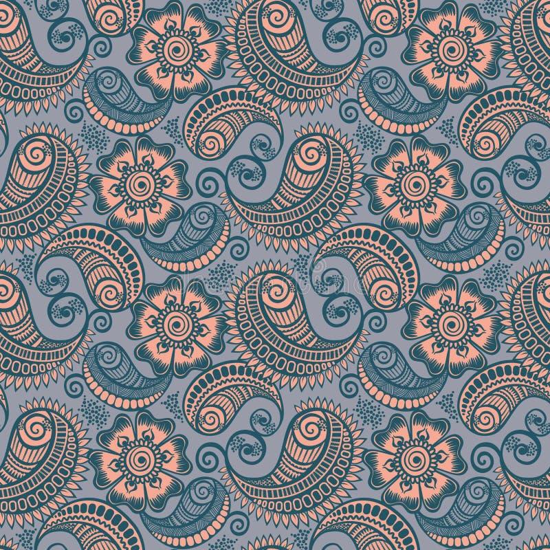 Download Seamless Elegant Paisley Pattern Stock Illustration - Image: 25075388