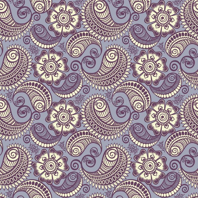 Free Seamless Elegant Paisley Pattern Stock Photography - 25183812