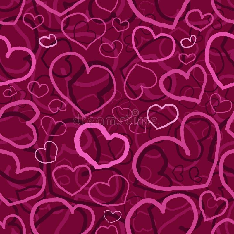 Seamless elegant purple valentines day pattern vector illustration