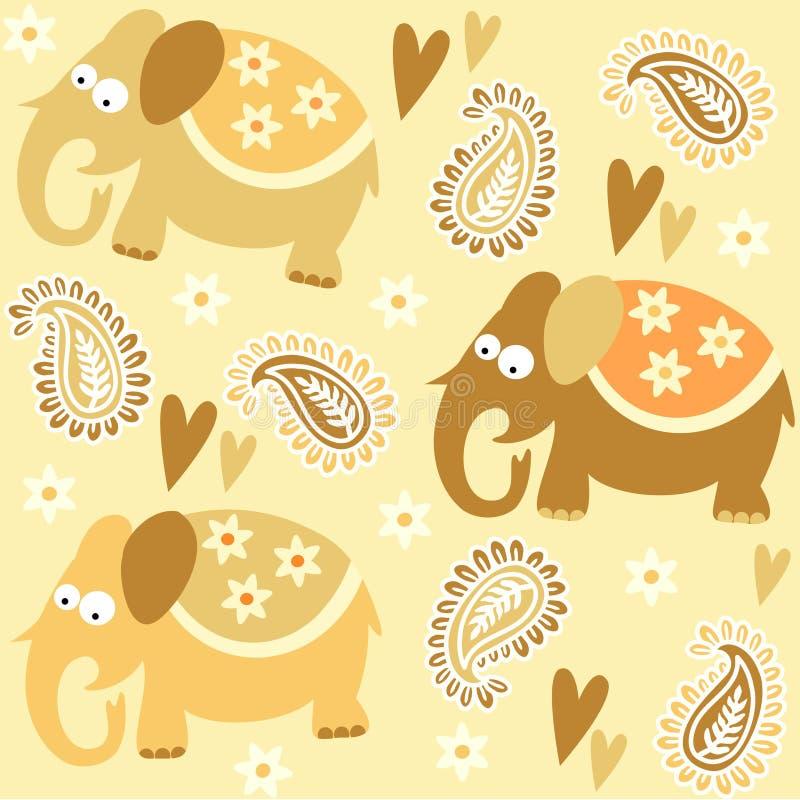 Download Seamless Elephant Kids Pattern Wallpaper Backgroun Stock Vector