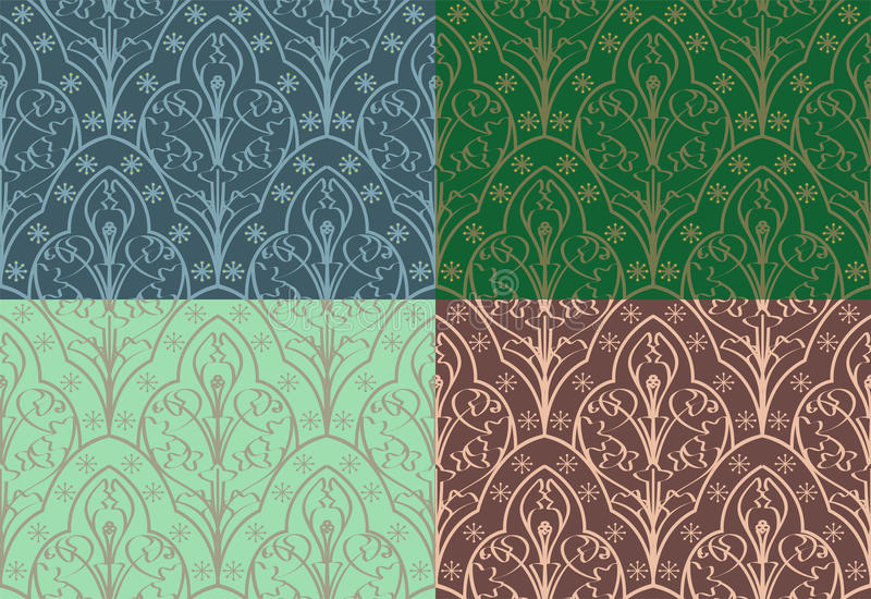 Seamless Elven Pattern. Vector seamless pattern made in an elven style vector illustration