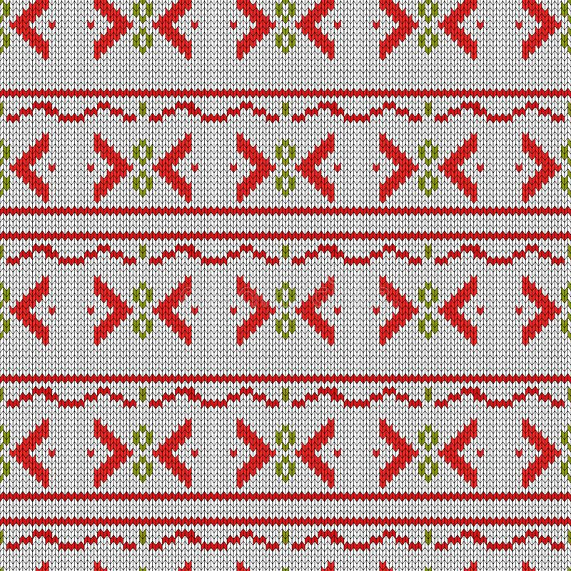 Seamless embroidered cross-stitch ornament national pattern eps10 royalty free illustration