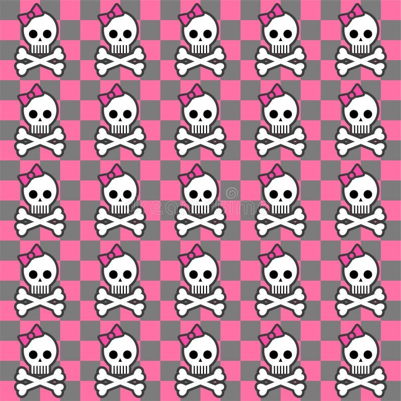 Seamless Emo Pattern Royalty Free Stock Image
