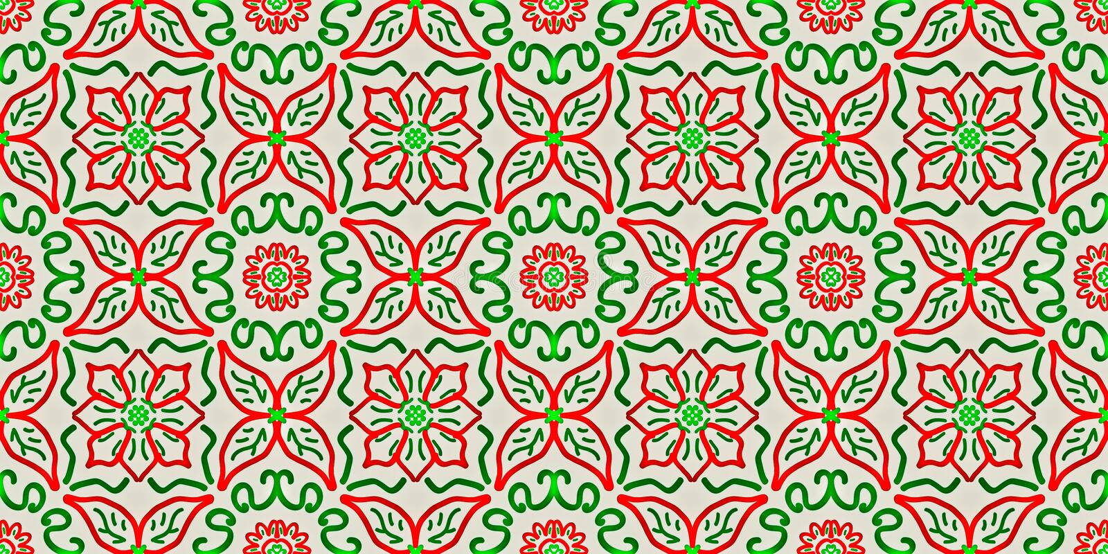 Seamless endless repeating bright ornament of multi-colored geometric shapes vector illustration