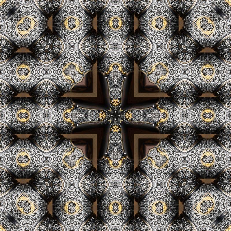 Free Seamless Engraved Metalwork Pattern Royalty Free Stock Image - 50081636