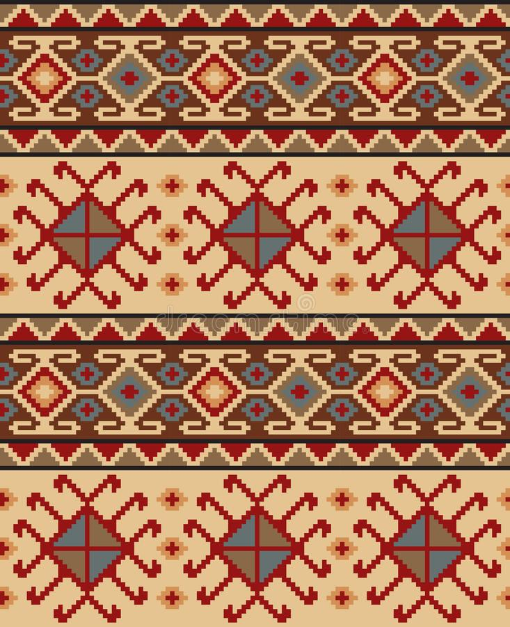 Seamless ethic Georgian pattern. For background, textile royalty free illustration