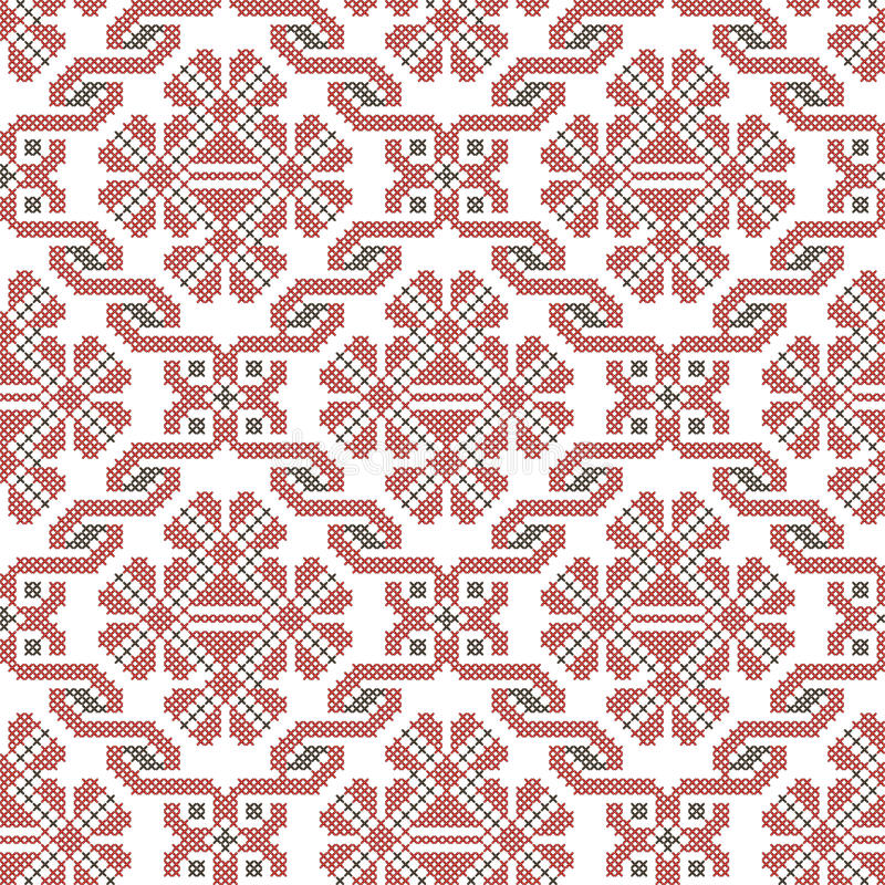 Seamless ethnic embroidery pattern royalty free illustration