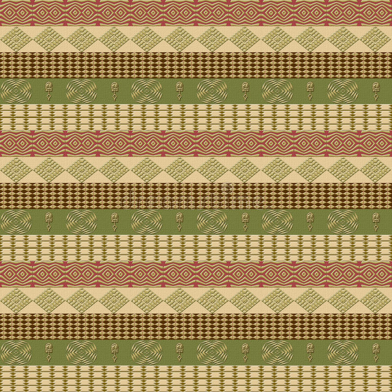 Seamless ethnic pattern stock photos