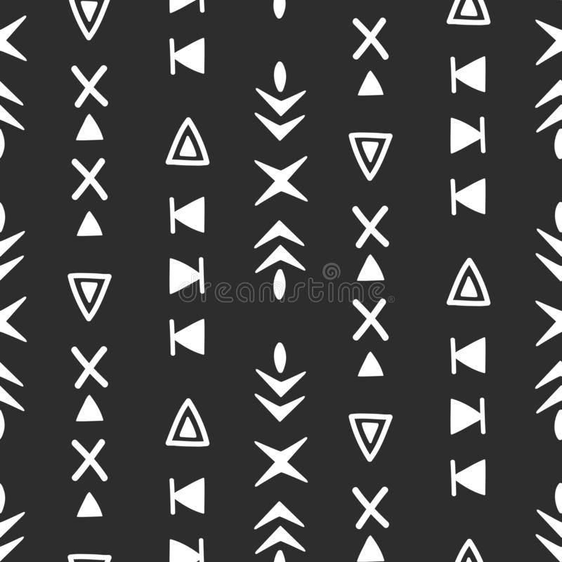 Seamless ethnic pattern. Hand drawn abstract background vector illustration