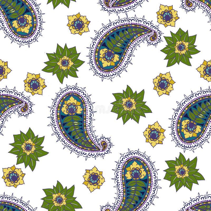 Seamless ethnic pattern royalty free stock photo