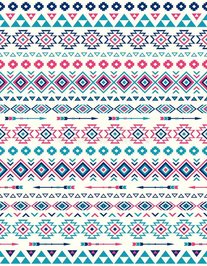 Seamless Ethnic pattern textures. Pink and Blue colors royalty free stock photography