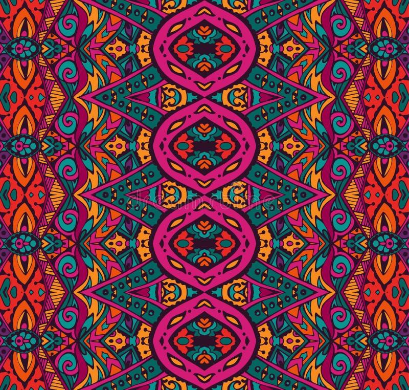 Seamless ethnic tribal indianl Geometric print royalty free illustration