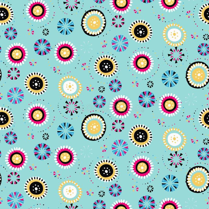 Polka dot vector background. Seamless vector pattern stock illustration