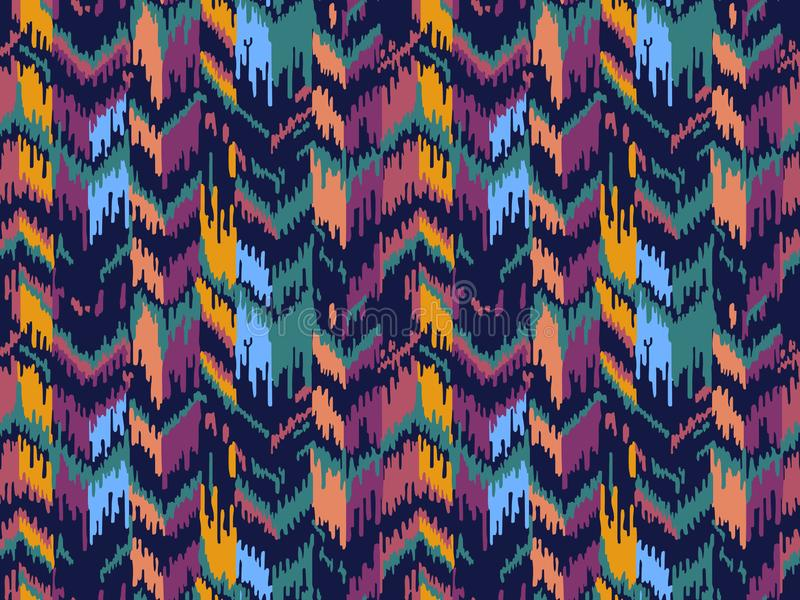 seamless etnisk modell Stam- etnisk vektortextur Randig modell i Aztec stil Ikat geometrisk folkloreprydnad royaltyfria bilder