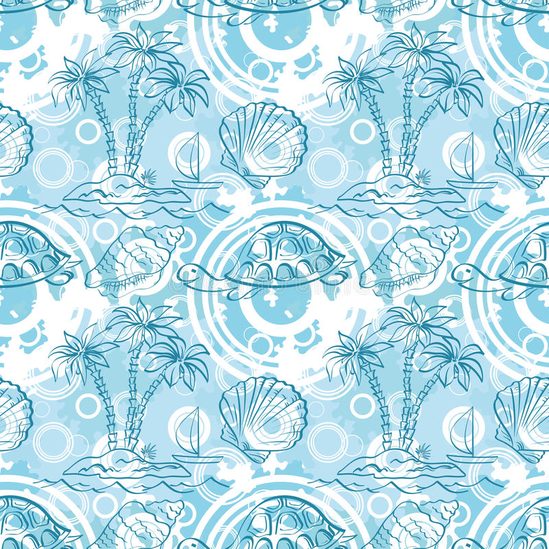 Download Seamless Exotic Ocean Pattern Stock Vector - Illustration: 30499883