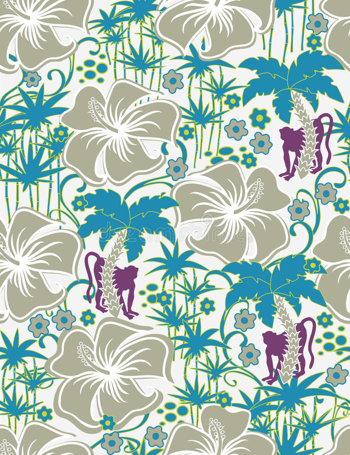 Download Seamless Exotic pattern stock vector. Image of polynesia - 9840459