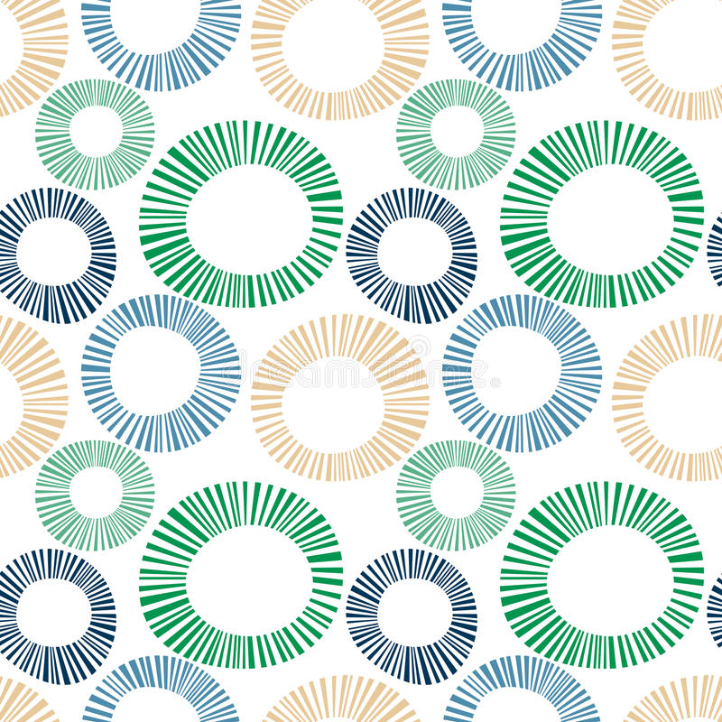 Seamless exploding striped circles. Striped exploding circles. Other colors can be made by request. Seamless Tile stock illustration