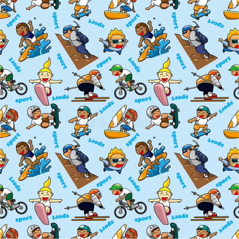 Download Seamless Extreme Sport Pattern Stock Vector - Illustration of bicycle, design: 19028005