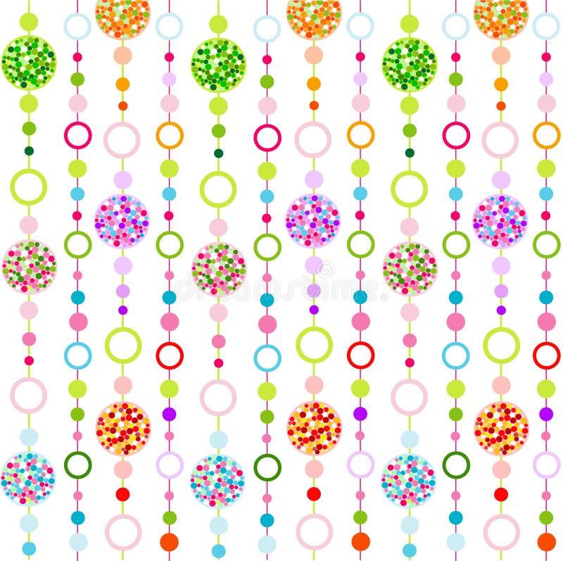 seamless färgrik liten modell för cirkulär vektor illustrationer