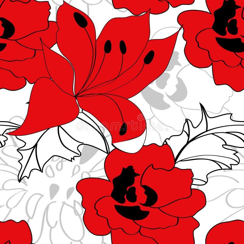 seamless färgrik modell royaltyfri illustrationer