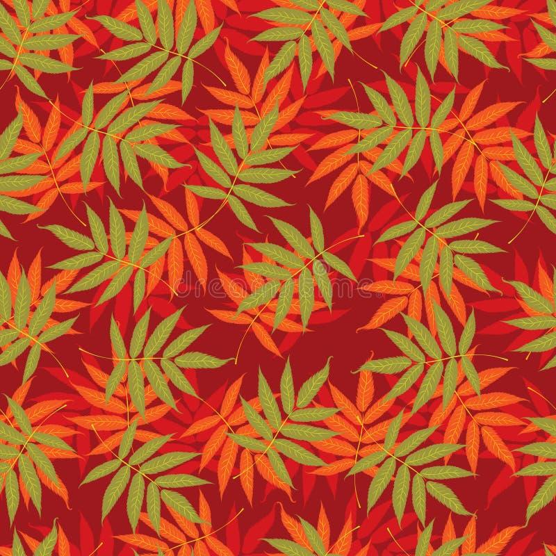 seamless färgrika leaves för höstbakgrund stock illustrationer