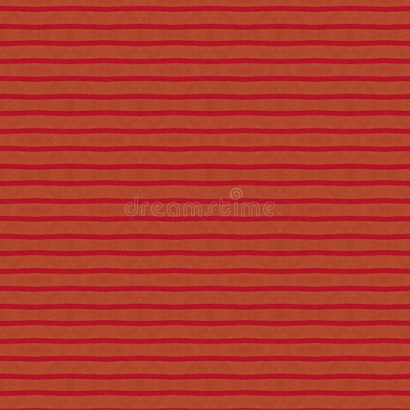 Seamless fabric striped texture. Rustic canvas pattern. Colored red striped coarse linen fabric closeup as background. Seamless fabric striped texture. Rustic royalty free stock image
