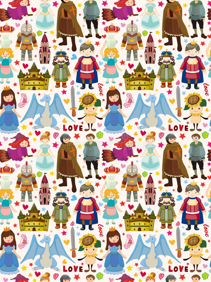 Download Seamless Fairy Tale Pattern Stock Vector - Illustration: 30496830
