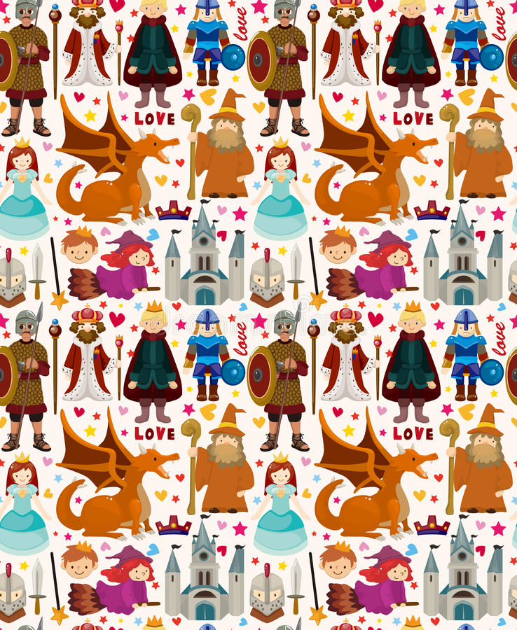 Download Seamless Fairy Tale Pattern Stock Vector - Image: 30527105