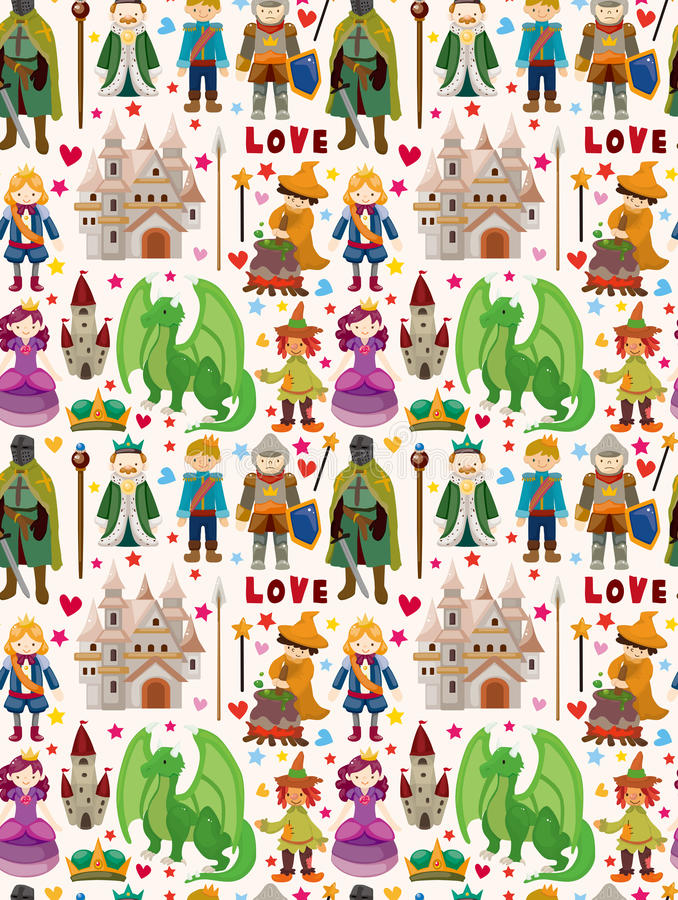 Download Seamless Fairy Tale Pattern Stock Vector - Image: 30545249