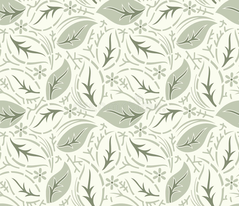 Download Seamless Fancy Leaves Vector Wallpaper Stock