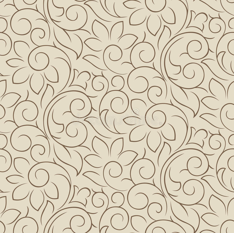 Download Seamless Fancy Vector Floral Wallpaper Stock