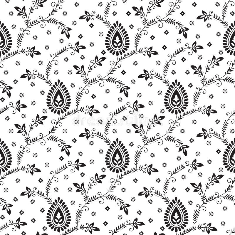 Download Seamless Fancy Wallpaper Stock Vector Illustration Of Paisley