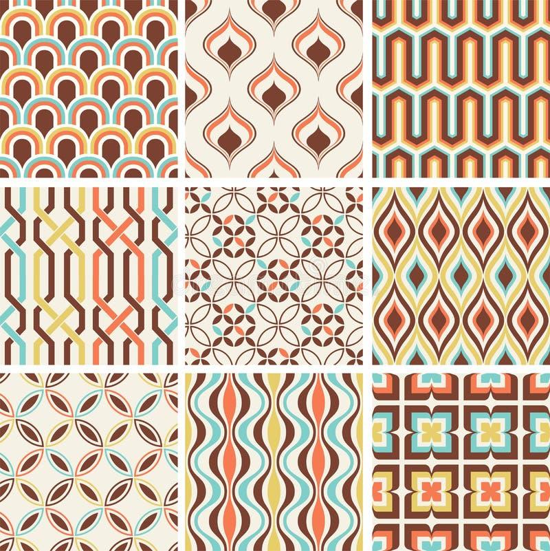 Seamless fashion nostalgic geometric pattern royalty free illustration