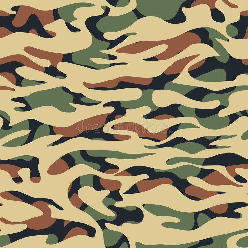 Free Seamless Fashion Textile Camouflage Pattern Stock Images - 96710804