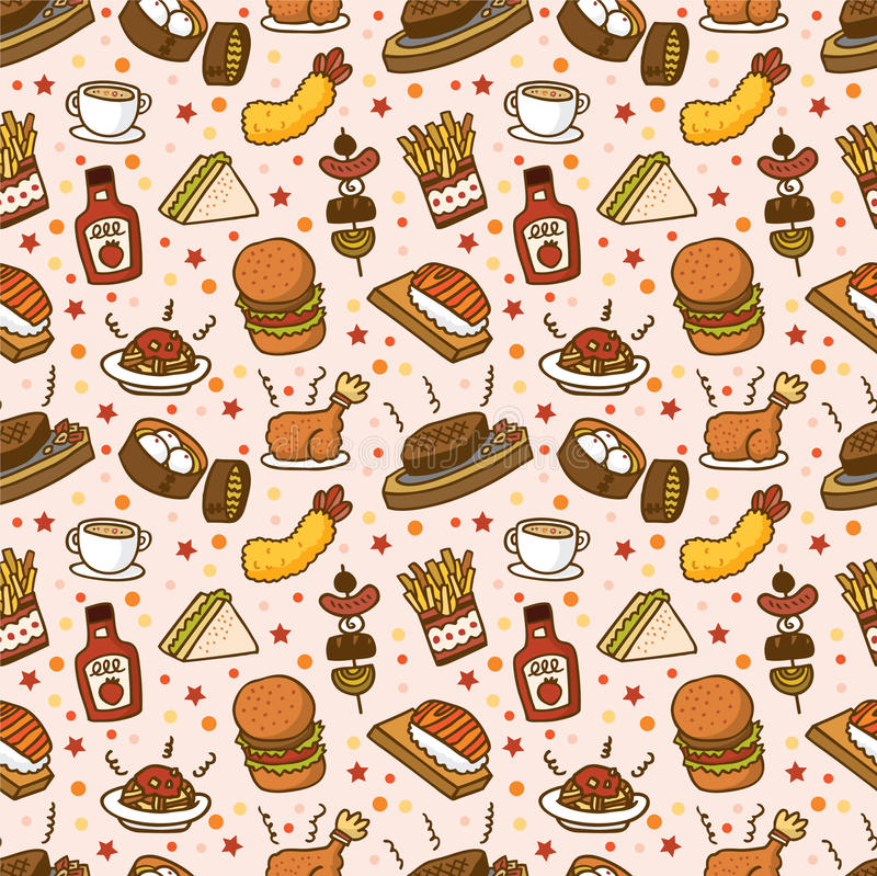 Download Seamless fast food pattern stock vector. Image of cheese - 16469568