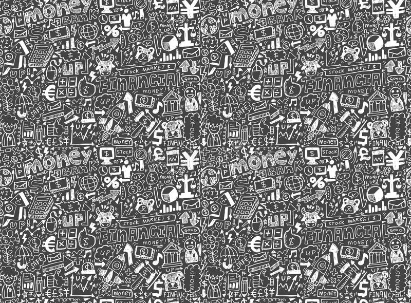 Seamless financial pattern royalty free illustration
