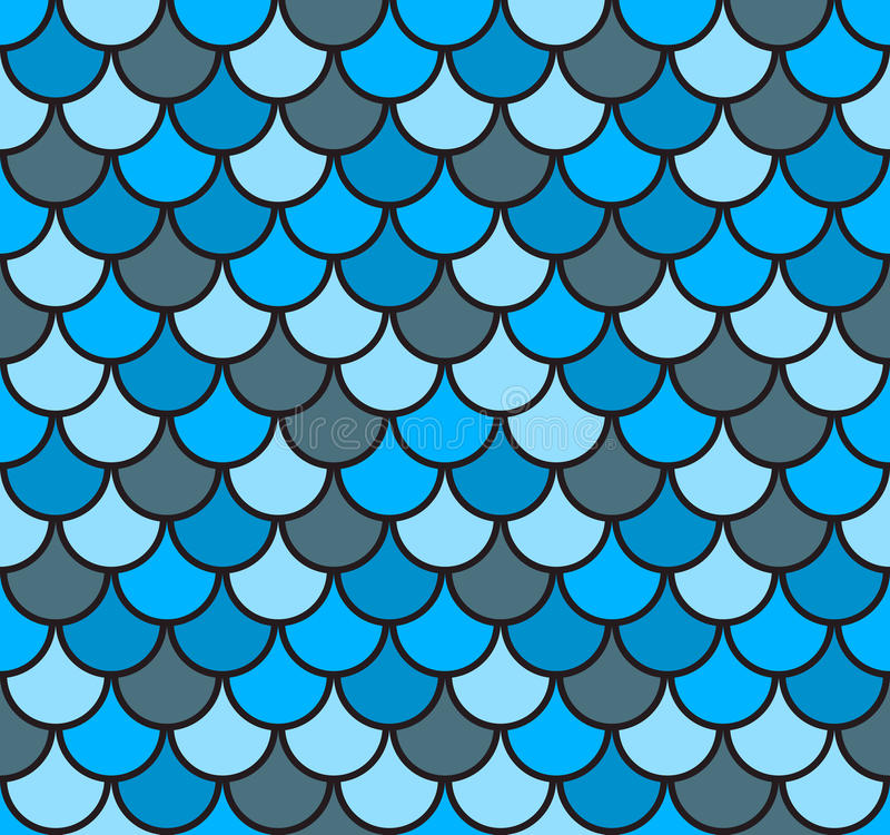 Free Seamless Fish Scale Pattern Vector Illustration Royalty Free Stock Photo - 59672105