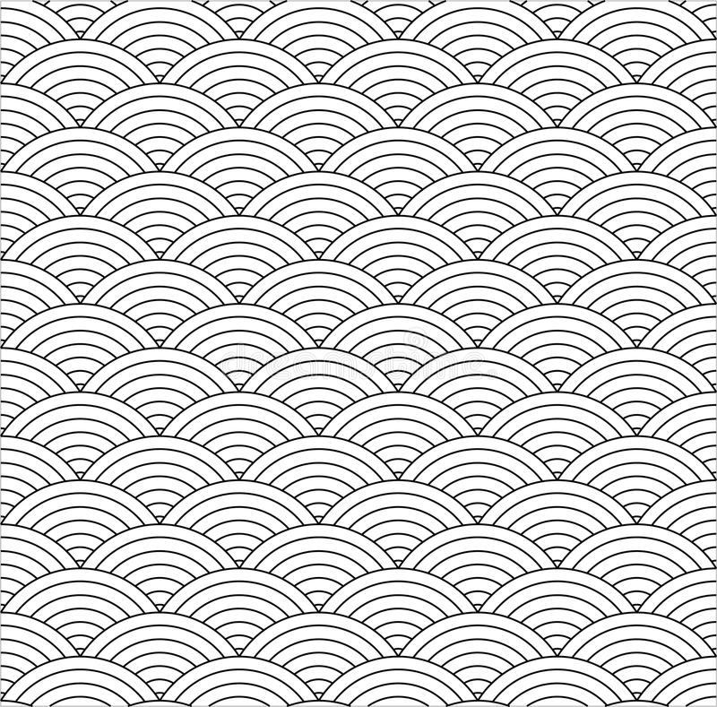 Seamless fish scale vector illustration