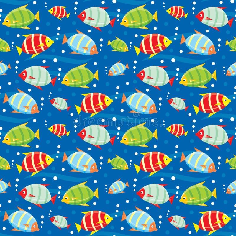 Seamless fishes pattern. Vector illustration, color full, no gradient vector illustration
