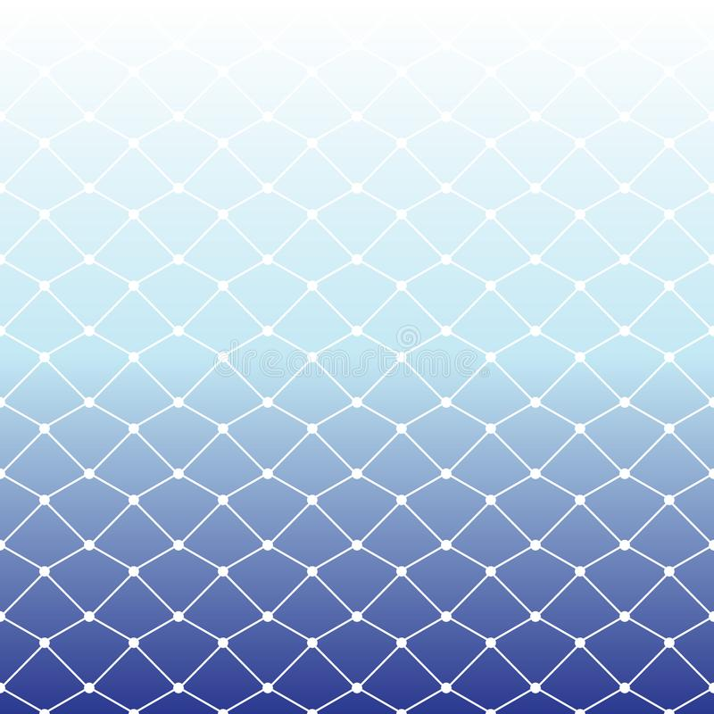 Free Seamless Fishing Net Pattern On White And Blue Gradient Background For Summer, Vector Illustration Royalty Free Stock Images - 115811549