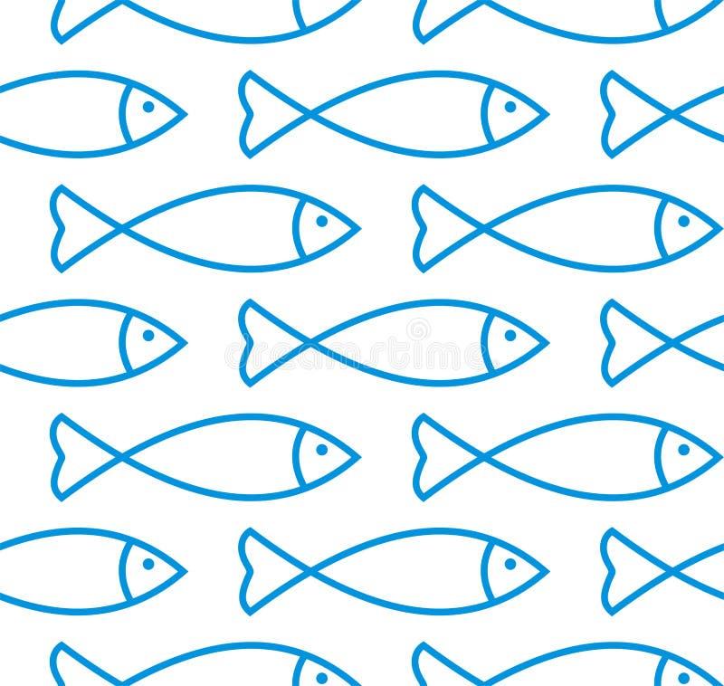 seamless fiskmodell royaltyfri illustrationer