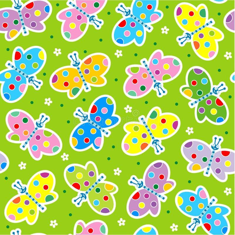 seamless fjärilar stock illustrationer